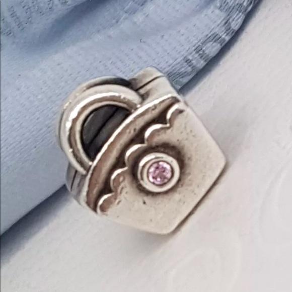 931499a75 790473PCZ Retired Pandora Pink Cz Diaper Bag Charm.  M_5b604d1a5098a06f186d8a65